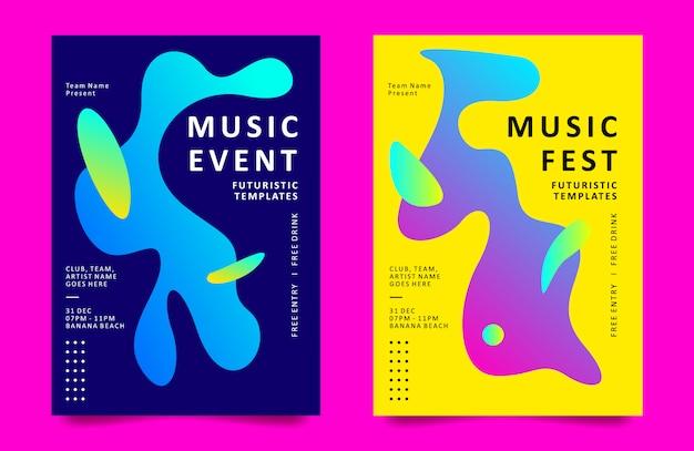 Modelo de design de cartaz para evento de música Vetor Premium