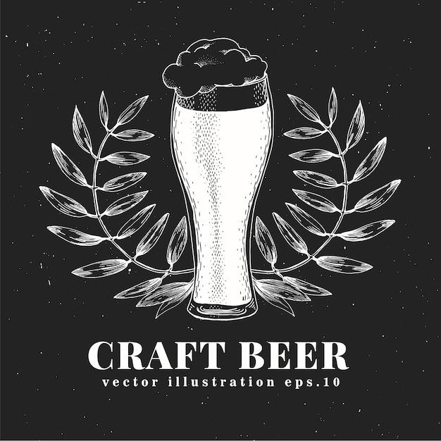 Modelo de design de cerveja de vetor. Vetor Premium