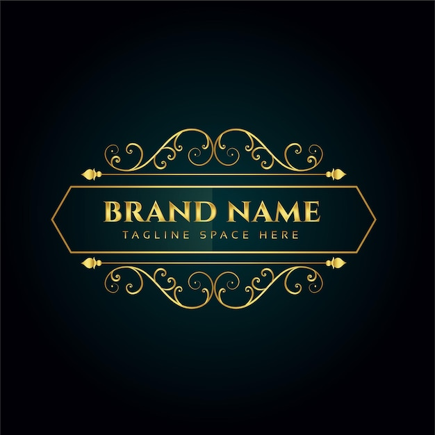 Modelo de design de conceito de logotipo ornamental elegante Vetor grátis
