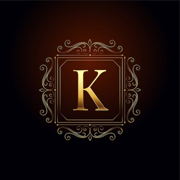 Modelo de design de conceito de logotipo premium letra k Vetor grátis