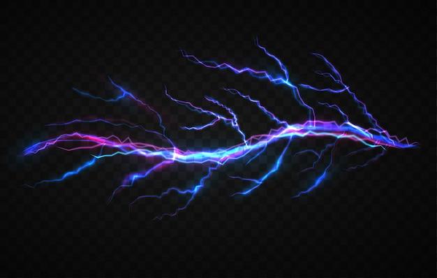 Modelo de design de efeito visual de eletricidade realista Vetor Premium