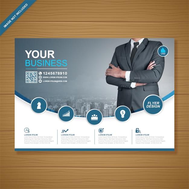 Modelo de design de folheto a4 de capa de negócios corporativos Vetor Premium