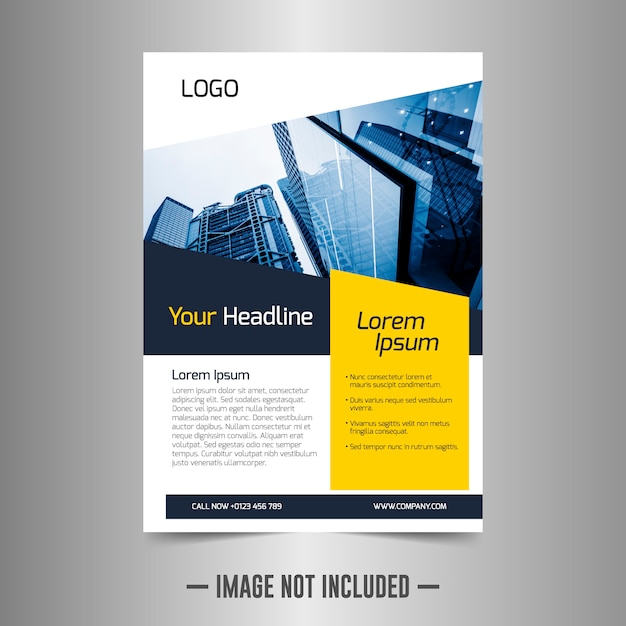 Modelo de design de folheto corporativo Vetor Premium