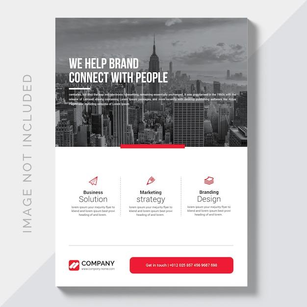 Modelo de design de folheto empresarial moderno Vetor Premium