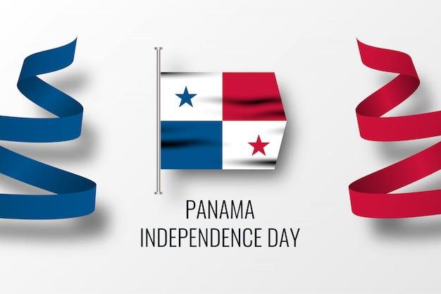 Modelo de design de ilustração da independência do panamá dy Vetor Premium