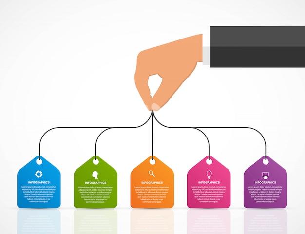 Modelo de design de infografia. Vetor Premium
