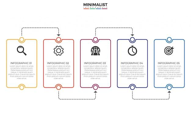 Modelo de design de infográfico de cronograma Vetor Premium