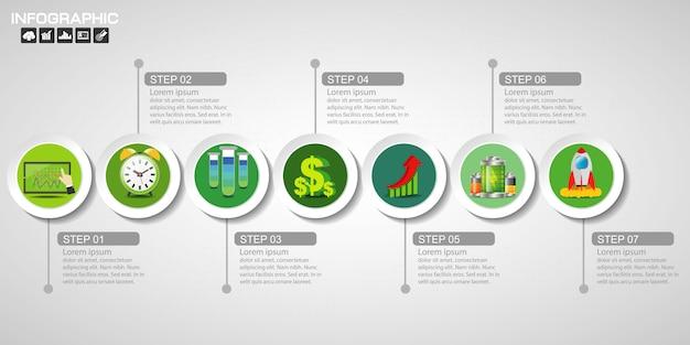 Modelo de design de infográficos de cronograma Vetor Premium