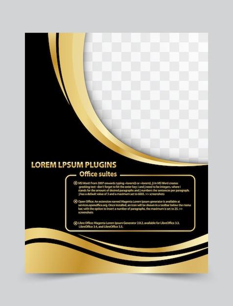 Modelo de design de layout brochura flyer para o seu negócio. fundo do vetor Vetor Premium