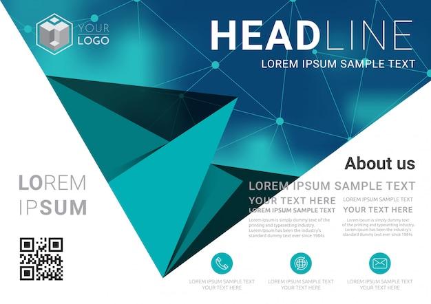 Modelo de design de layout de apresentação de negócios. Vetor Premium