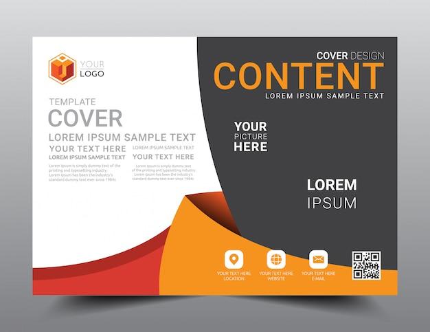 Modelo de design de layout de apresentação. Vetor Premium