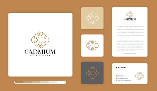 Modelo de design de logotipo cádmio Vetor Premium