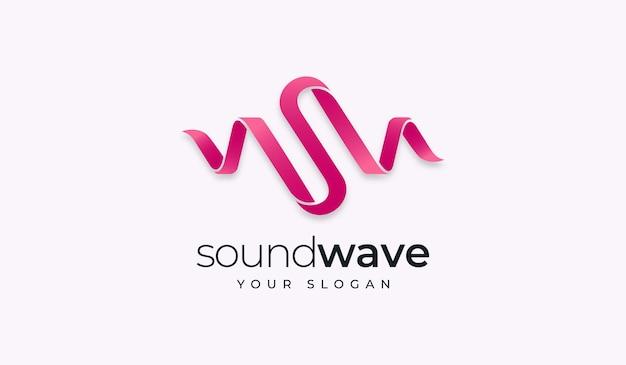 Modelo de design de logotipo criativo soundwave da letra s. Vetor Premium