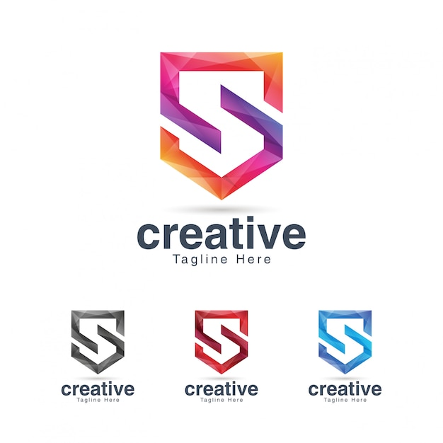 Modelo de design de logotipo criativo vibrante letra s Vetor Premium