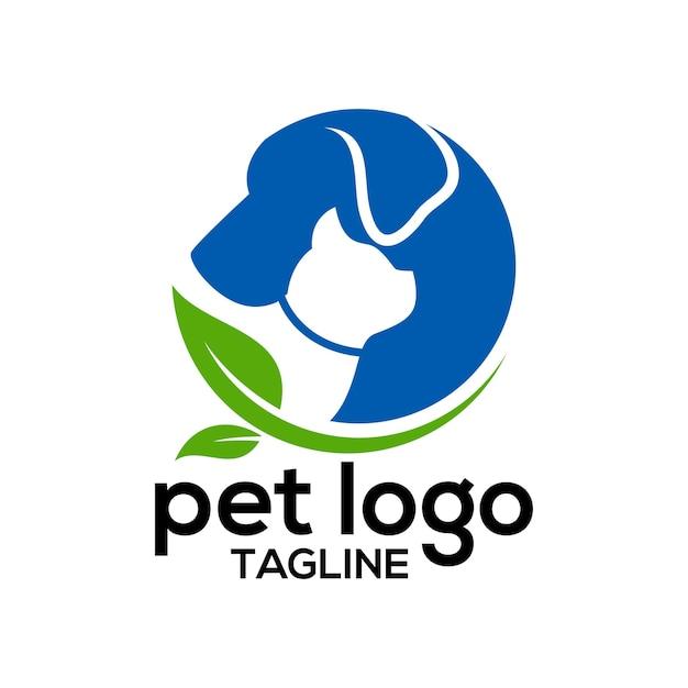 Modelo de design de logotipo de animal de estimação Vetor Premium