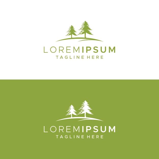 Modelo de design de logotipo de árvore Vetor Premium