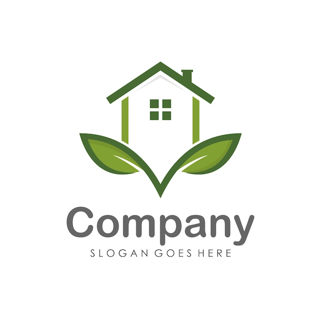 Modelo de design de logotipo de casa e imóveis Vetor Premium