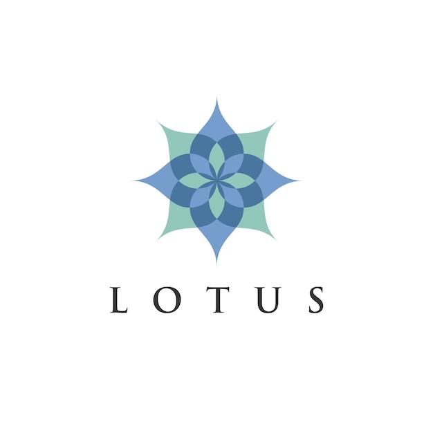 Modelo de design de logotipo de flor de lótus para eco, beleza, spa, ioga, empresas médicas. Vetor Premium