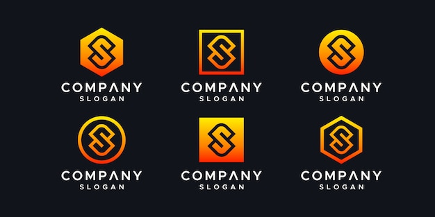 Modelo de design de logotipo de iniciais. Vetor Premium