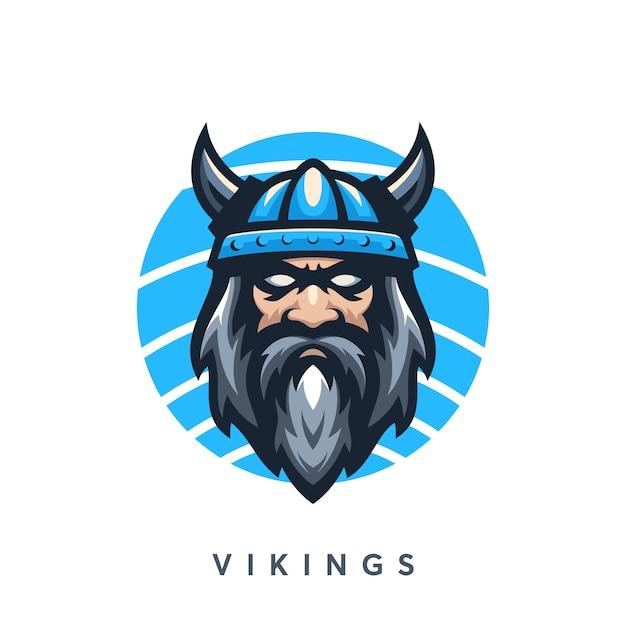 Modelo de design de logotipo moderno vikings Vetor Premium