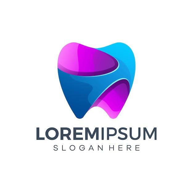 Modelo de design de logotipo odontológico Vetor Premium