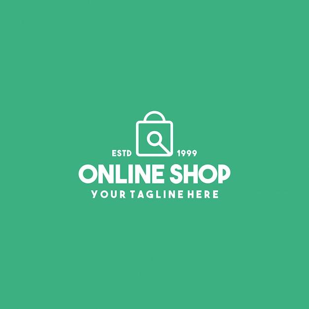 Modelo de design de logotipo premium de loja online Vetor Premium