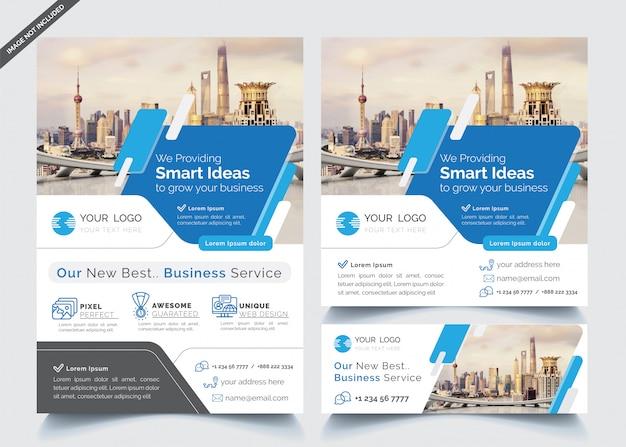 Modelo de design de negócios Vetor Premium