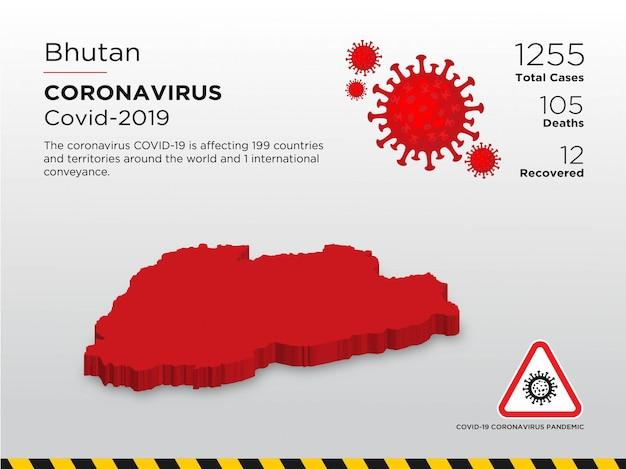 Modelo de design de país afetado pela doença de coronavírus Vetor Premium