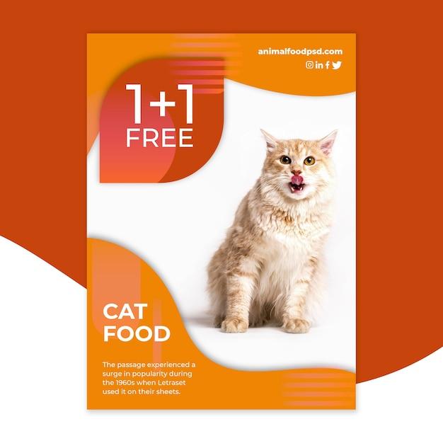 Modelo de design de panfleto de comida animal Vetor grátis