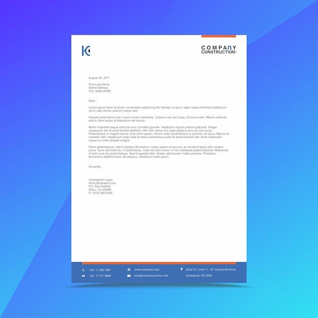 Modelo de design de papel timbrado de negócios corporativos Vetor Premium