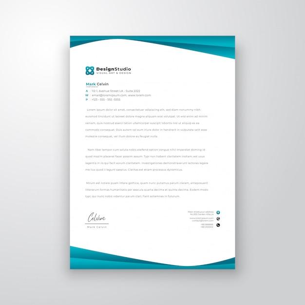 Modelo de design de papel timbrado Vetor Premium