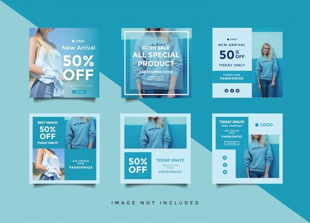 Modelo de design de postagem de mídia social Vetor Premium