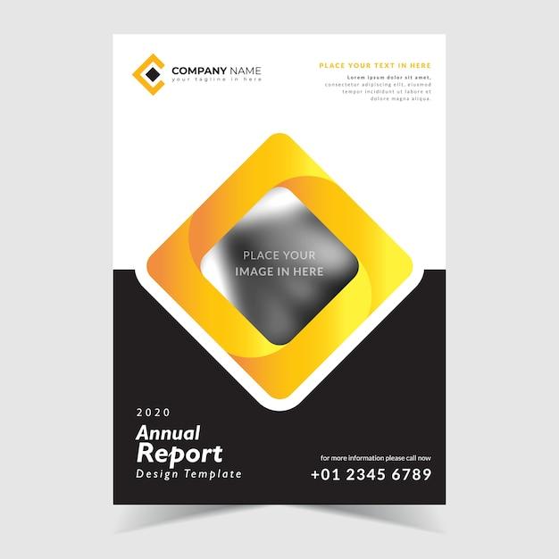 Modelo de design de relatório anual, com fundo criativo Vetor Premium