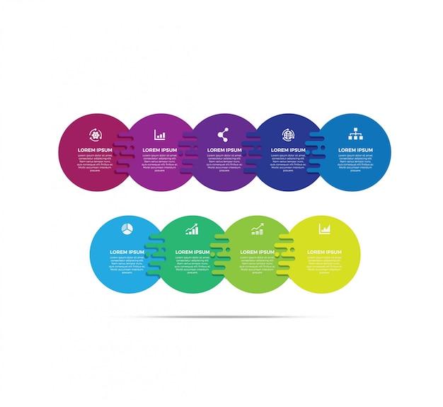 Modelo de design de rótulo infográfico Vetor Premium