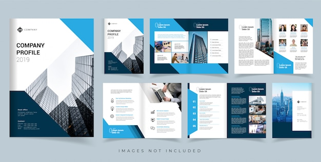 Modelo de design de vetor de brochura de perfil de empresa. modelo de design de vetor de relatório anual Vetor Premium
