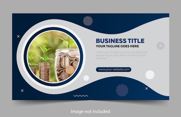 Modelo de design do banner com elementos modernos Vetor Premium