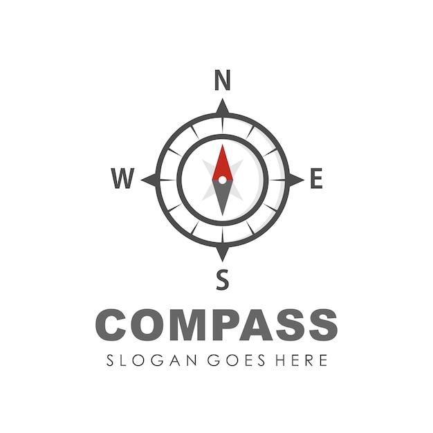 Modelo de design do logotipo compass Vetor Premium