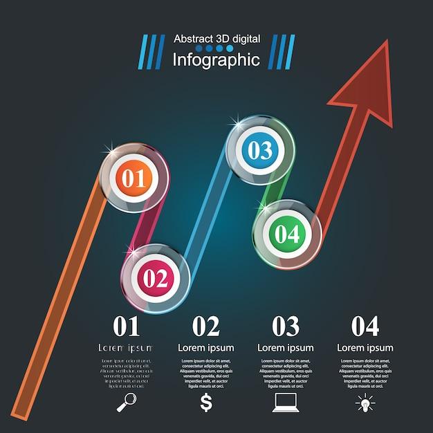 Modelo de design infográfico Vetor Premium