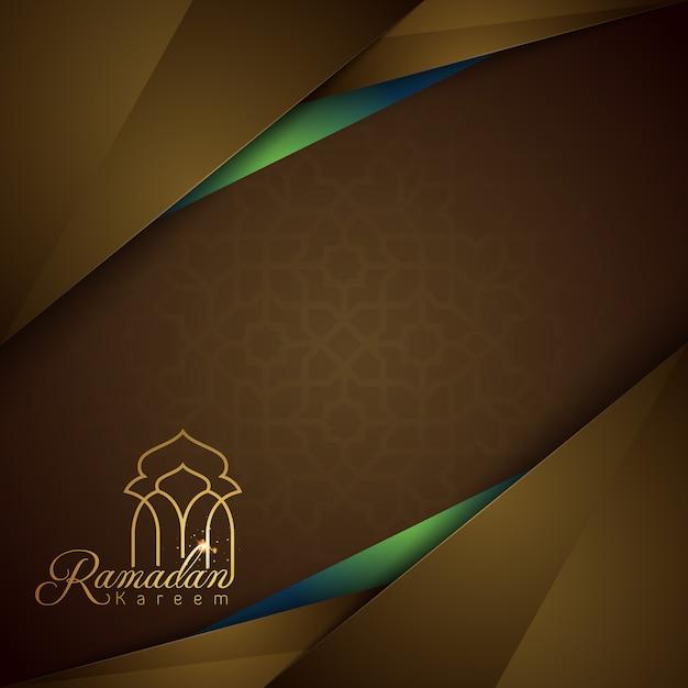 Modelo de design islâmico de fundo do ramadan kareem banner Vetor Premium