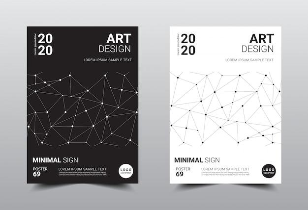 Modelo de design minimalista criativo de livro. Vetor Premium