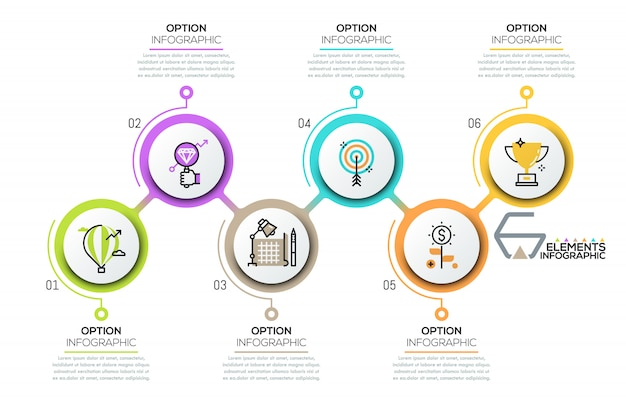 Modelo de design moderno infográfico Vetor Premium