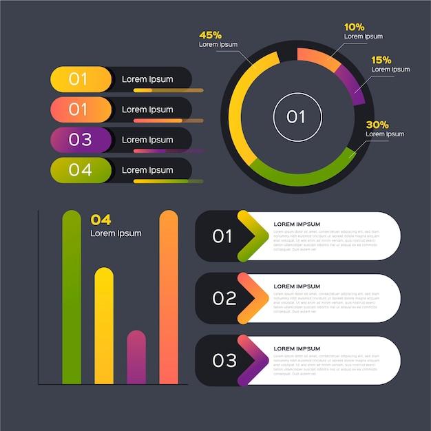 Modelo de design plano de elementos infográfico Vetor grátis