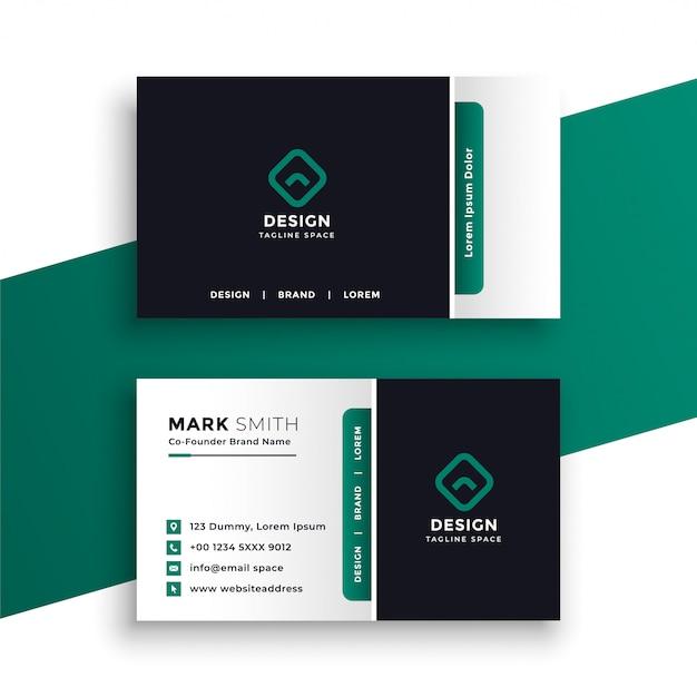 Modelo de design profissional elegante cartão de visita Vetor grátis