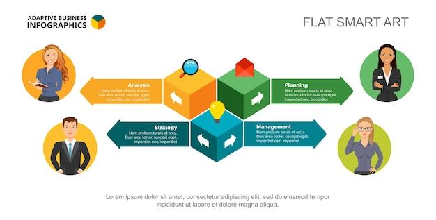 Modelo de deslocamento do conceito de abordagem empresarial Vetor Premium