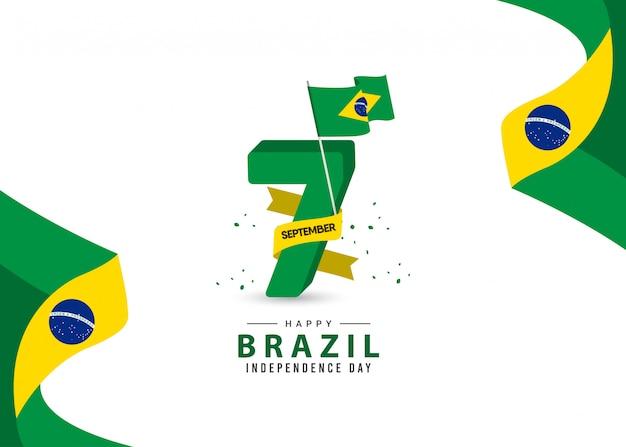 Modelo de dia da independência do brasil. Vetor Premium