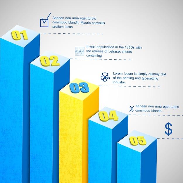 Modelo de diagrama de barra de negócios Vetor grátis