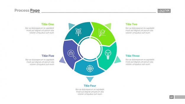 Modelo de diagrama de diagrama de negócios Vetor grátis