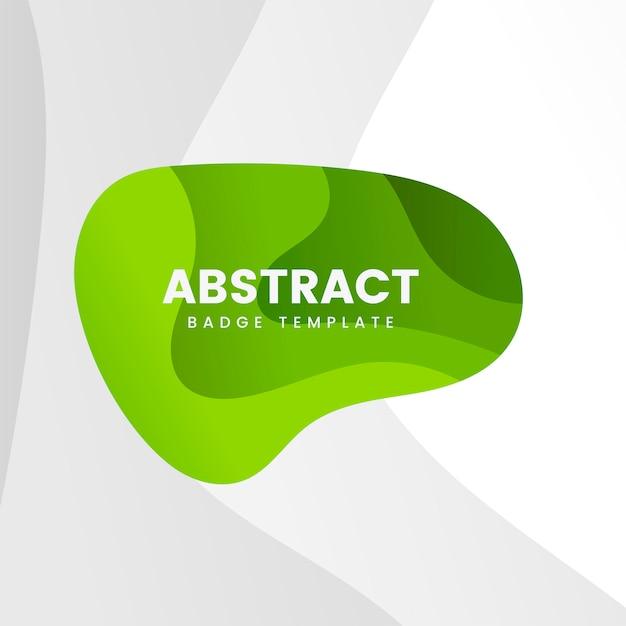 Modelo de distintivo abstrato em verde Vetor grátis