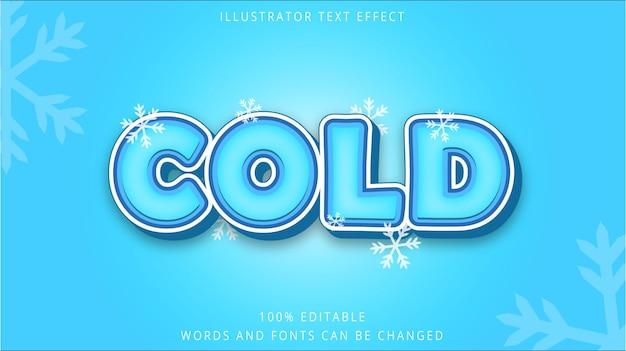 Modelo de efeito de texto 3d estilo frio Vetor Premium