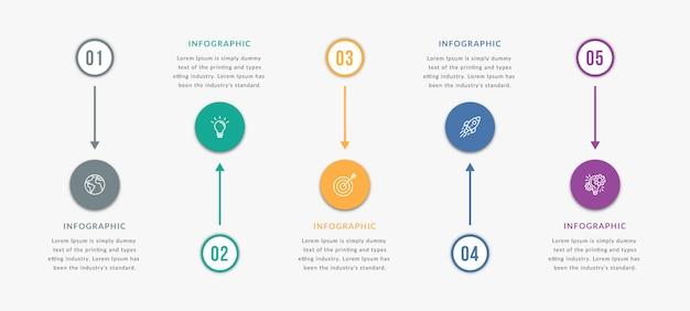 Modelo de elemento infográfico Vetor Premium